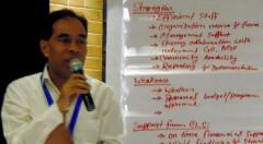 Md. Mahabubur Rahman, Director (SDP), YPSA gave a presentation on YPSA-CLS Sustainability session