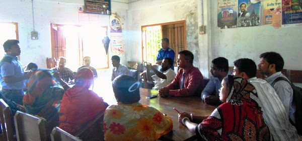 Meeting with Mr. Jerome Sayer and beneficiary