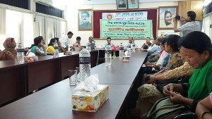 Discussion meeting on World No Tobacco Day 2016 in Bandarban