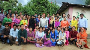 Group photo with community people