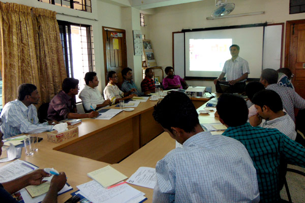 Monotoring and Documentation Officer facilated a session on M&E issues