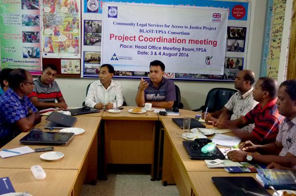 Md. Arifur Rahman, Chief Executive given a motivational speech to YPSA-CLS staffs.