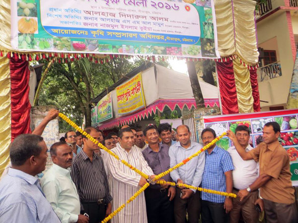 Didarul Alam MP inaugurating the Fruit Tree Fair-2016 in Sitakund