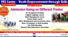 Admission going on. YEF Center, YPSA