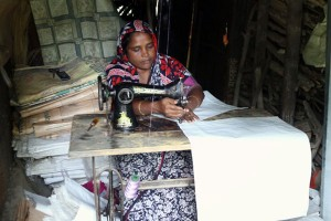 Bag making by a woman entrepreneur