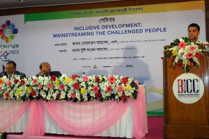 "Seminar on ""Inclusive development: mainstreaming the challenged people"""