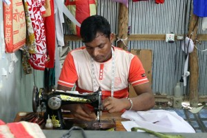 Tailoring shop of a physically challenged youth