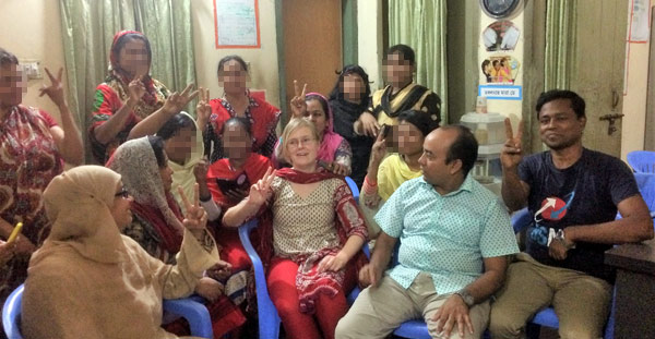 Dr. Ingrid Boas from Wageningen University, Netherland visits YPSA Drop in Center (DIC) at Dhaka