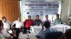 Project inception meeting held with Upazila administration of Kutubdia, Cox'sbazar