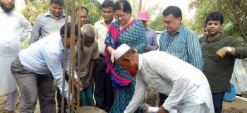 The construction work was launched by Ms. Farah Kabir, Country Director of Actionaid Bangladesh, Md. Arifur Rahman, Chief Executive YPSA and UNO of Banskhali