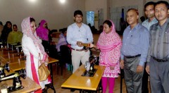 YPSA has distributed sewing machines to 32 women micro-entrepreneurs at Sitakunda