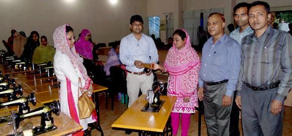 YPSA has distributed sewing machines to 32 women micro-entrepreneurs at Sitakunda