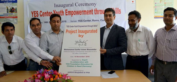 "Inaugural Ceremony of ""YES center -Youth Empowerment through Skills"" at Ramu, Cox's Bazar"