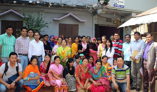 Group photo In front of YPSA Panchari Office, Khagrachari