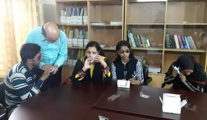Vashkar Bhttacharjee facilitating the training