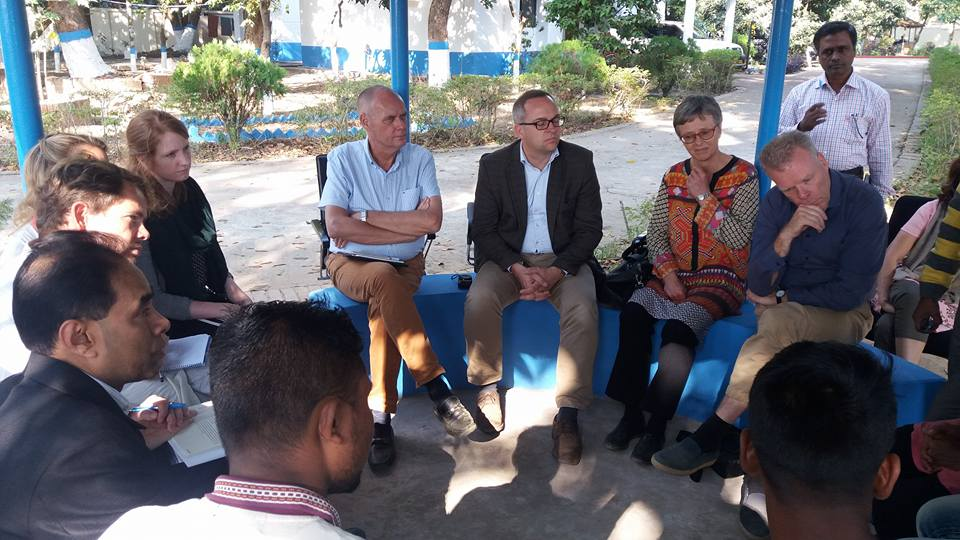 Ambassadors from Norway, Sweden and Denmark visits YPSA in Cox's Bazar