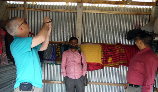 Shelter home visit by Mr. John Armstrong, National Director of Habitat for Humanity Bangladesh