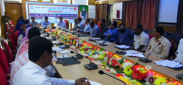 "Workshop on ""Implementation of Tobacco Control Law in Comilla"" with government officials"