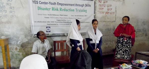 School based disaster risk reduction training held at Ramu