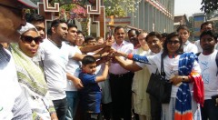 The City Mayor mr A J M Nasir Uddin received the torch as guest of honour.