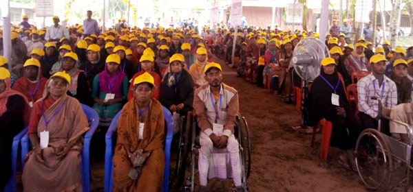 Persons with disability come from different places at the convention