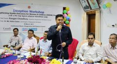 district level inception workshop on 'Strengthening Health Outcomes for Women and Children' (SHOW) Project'