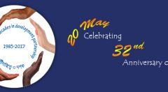 Banner: 20 May Celebrating 32 anniversary of YPSA.
