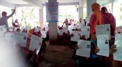 Beneficiaries are waiting to receive cash grant