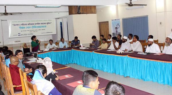 Team Leader of YPSA Ms. Khaleda Begum described the progress of the project activities.