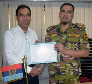 Md. Mahabubur Rahman from YPSA has receives Cadetship Certificate