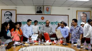Poster, Leaflet and Flipchart of YPSA CEVEC Consortium launched by Deputy Commissioner of Cox's Bazar