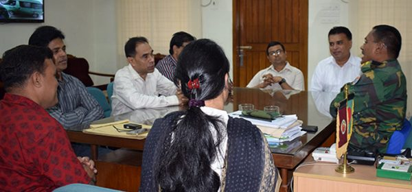 A Moment of discussion meeting with Brigadier General Md. Jalal Uddin, Director, CMCH and YPSA team.