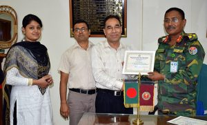 Md. Mahabubur Rahman, Director (Social Development), YPSA is receiving the life membership certificate of Patients Welfare Society, Chittagong from the Director of CMCH.