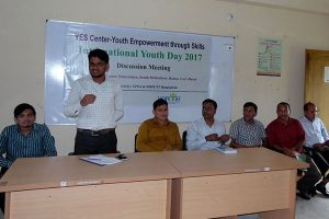 A discussion on International Youth Day'2017 at YPSA-YES Center, Ramu, Cox's Bazar