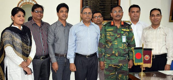 A group photo of YPSA Management with the Director of CMCH, Brigadier General Md. Jalal Uddin.