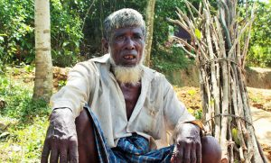 Elderly displaced Rohingya in Cox'sbazar