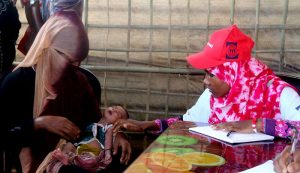 YPSA established Women Friendly Space (WFS) at Moinerghona Camp in Ukhia, Cox's Bazar.