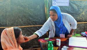Women Friendly Space (WFS) at Moinerghona Camp in Ukhia, Cox's Bazar.