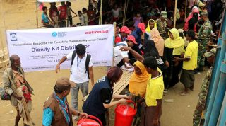 Dignity kits distributed to displaced women from Myanmar
