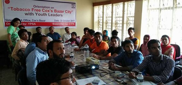 Orientation on Tobacco free Cox's Bazar city for Youth Leaders held in Cox's Bazar
