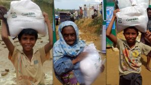 Beneficiaries received food