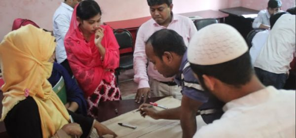 Group work in a workshop