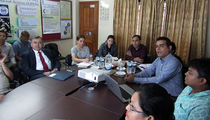 A team from US State Department in a meeting at YPSA