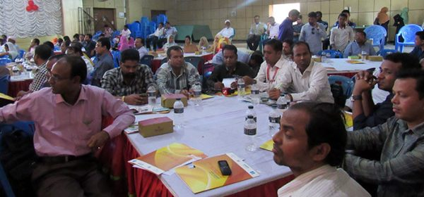 Participants of Community Dialogue on the Right to Information Act 2009 was held in the Sitakund District Council Auditorium