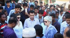 Senior Grant Manager at GCERF visits YPSA CEVEC Project activities at Cox's Bazar