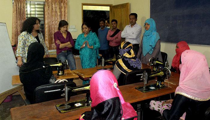 Skill development training session at YPSA CYC Ramu visits by GERF Representative