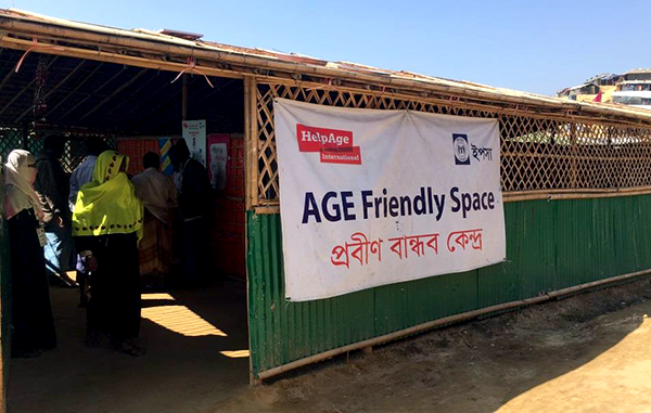YPSA Age Friendly Space for Rohingya people