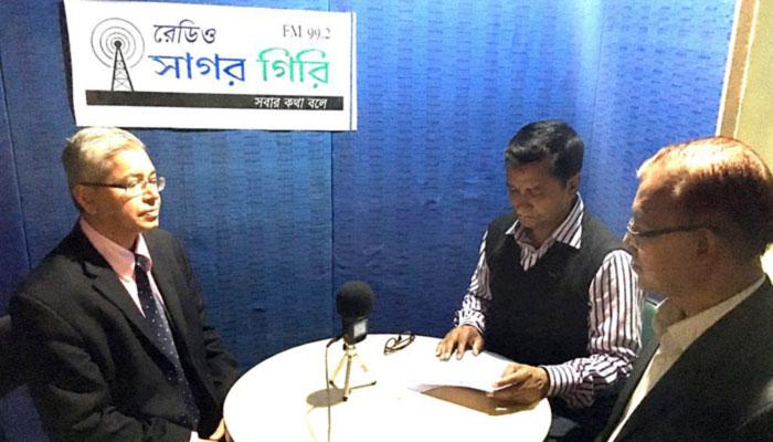 Interview at Radio Sagor giri