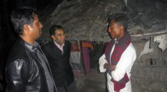 National Program Manager, IOM & Director (SD) of YPSA talk with beneficiary in his yard at Rajarkol Cox's Bazar.