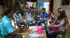A meeting with returnee on individual assistance at Cox'sBazar Sadar